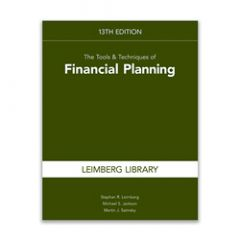 The Tools & Techniques of Financial Planning, 13th Edition